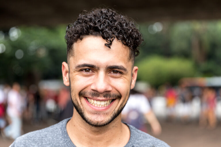 Potrait,Of,Brazilian,Gay,Man,Smiling
